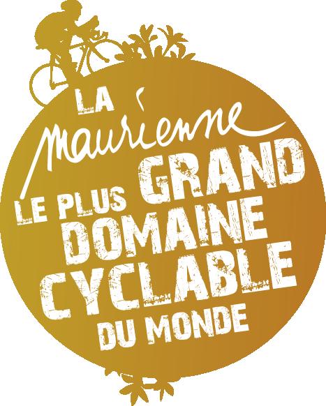 logo la maurienne le plus grand domaine cyclable du monde